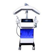 Potente 8 in 1 Hydroxygen Oxyygeny Acqua Acqua Hydra Facello Oxygen Spray Gun Hydro Dermabrasion Aspirapolvere LED Terapia per terapia