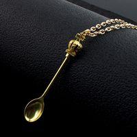 Alice Crown Clankical Royal Snifffer Sniffer Ожерелье Подвеска Dabber DAB Wax Tool Mini Tools Waxy Сухой травяной ложкой в форме металлического тарелки с цепью