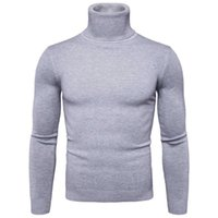 Favocent hiver Chaud Turtleneck Pull Hommes Mode Solide Tricoté Homme Sweaters Casual Homme Double Collier Slim Fit Pullover 211018