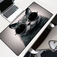 Mouse Pads & Wrist Rests XGZ Game Pad Animal With Sunglasses Cat Pattern Printed Large Computer Notebook Office Accessories Desk Mat