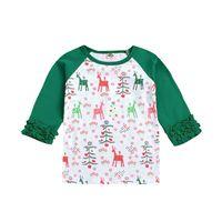 Meninas bebê t-shirt dos desenhos animados impressos retalhos de natal tops meninas roupas meninas tops crianças impressas camisas 1m-5m 07