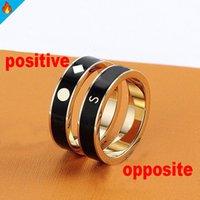 Мода золотые кольца для мужчин бренд женские кольца любви леди мужская сумка ювелирные изделия из нержавеющей стали писем годовщины подарок подарок