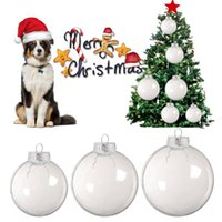 Party Decoration 6 8 10cm Christmas Tress Decorations Ball Transparent Open Plastic Clear Bauble Ornament Gift Present Box Year 2