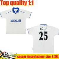 97 98 Away Blanc Zola Retro Soccer Jerseys 12 13 03 05 11 94 95 96 Drogba Torres Lampard Classic Gullit Valli Spencer di Matteo Leboeuf Kit de chemise de football Vintage