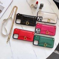 Красивая натуральная кожаная сумка для сумки сумки с роскошным брендом для iPhone 11 12PRO 11XS XSMAX XR 8PLUS 8 7PLUS оптовик