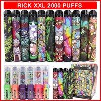 RICK XXL 2000 Puffs Elektronik Sigaralar Tek Kullanımlık Vape Cihaz Güç Pil Prefedce 6 ml Pods Kartuşları Buhar Ecigarette Buharlaştırıcı Kalem Sopa