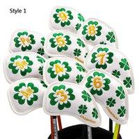 골프 클럽 아이언 모자 커버 10-12 PC / 세트 3D 수 놓은 볼 헤드 보호 방수 두꺼운 PU 제품