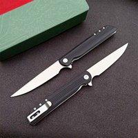 High Quality 3810 Flipper Folding Knife 8Cr13Mov Satin Blade Nylon Plus Glass Fiber Handle EDC Pocket Knives With Retail Box Package