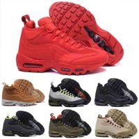 Air Almofada Aniversário Mid Mens Sneakerboot Black Exército Verde Treinamento Sapatilhas Esporte Sapatos