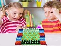 6 Estilo Gran descompresión Fidget Juguete Rainbow Fluorescencia China-ajedrez Junta de ajedrez Push Bubble FidgetSensory Toys Padre-Child Time Interactive Game Regalo