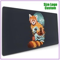 Mouse Pads & Wrist Rests Ukiyo E Red Panda Cute Anime Pad For Laptop Support Alfombrilla Escritorio Pc Gamer Completo Ergonomic Steelseries