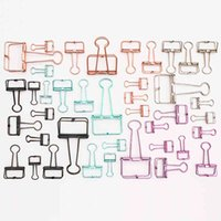 19mm 32mm 50mm Colorful Hollow Out Design Metal Clip Wire Paper Binder Clips Office School Supplies
