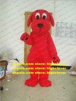 Costume de mascotte de chiot chiot chiot chio cool Doggie Clifford Costume Adulte Taille adulte avec yeux clairs Noir Big Nez Reds Fat Fat Belly No.5662