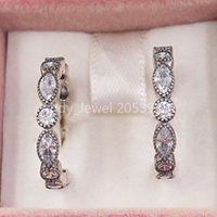Authentic 925 Sterling Silver Studs Alluring Brilliant Marquise, Clear Cz Fits European Pandora Style Jewelry