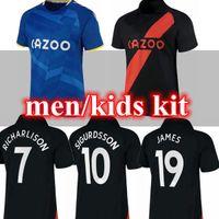 THE TOFFEES 21 22 # 19 James Soccer Jerseys Richarlison Davies Home Away 2021 2022 Uomini Camicia per portiere per bambini Camicia personalizzata uniformi di calcio personalizzati