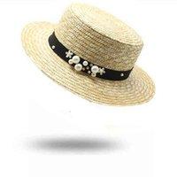 Wide Brim Hats Summer Women 7cm Straw Hat Fashion Chapeau Paille Lady Sun Boater Wheat Panama Beach Chapeu Feminino Caps HLSP