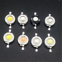 Grânulos claros 10 pcs 1w 3w LED Diodes Chip Branco Branco Natural Sol Quente Roxo Violeta Gelo Azul Cyan Ciano Spectrum Para Iluminação