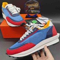 LD 메쉬 남자 신발 최고 품질 블랙 나일론 정상 회담 흰색 파란색 멀티 스 니커 크기 36-45