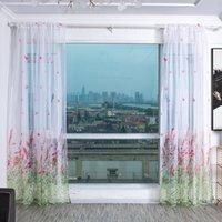Işık verici şube kelebek baskı pencere perde karartma ekran modern yatak odası oturma odası perdeleri 100 * 200 cm / 100 * 270 cm