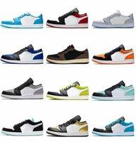 Top Quality Dark Mocha Jumpman 1 1S Men Boys Youths Sapatos Obsidian Universidade Azul Branco Jogo Royal Toe Quebrado 3.0 Boy Mens Trainer Sneakers