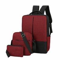 Computer Drei neue Spleißen USB-Stück Mode-Tasche Freizeit-Campusliebhaber Schultasche Große Kapazität Rucksack
