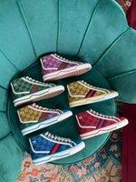 Tasarımcılar tenis 1977 Sneaker Tuval Luxurys Ayakkabı Bej Mavi Yıkanmış Jakarlı Denim Kadın Ayakkabı ACE Kauçuk Taban İşlemeli Vintage Rahat Sneakers kutusu