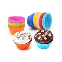Silikon-Kuchenform Runder Muffin Cupcake Backformen Küche Kochen Backformen Maker DIY Kuchen Tasse Dekorieren Werkzeuge T2I51823