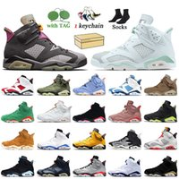 Nike Air Jordan 6 6s Retro Travis Scott 6 2020 lebre com Box Jumpman Mens Basketball sapatos de Preto Infrared DMP Homens Trainers Sneakers