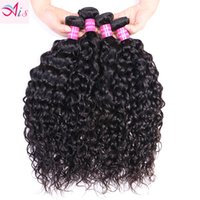 Malaysian Virgin Human Hair Natural Black Water Wave Unprocessed Remy Hair Bundles Double Weft 4 Bundles lot