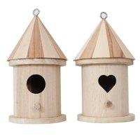 Pájaro de madera Bird House Colgando Caja de anidación Hook Home Garden Decor 894 R2