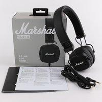 Marshall Major III 3.0 Cuffie con microfono Deep Bass Hi-Fi DJ Auricolare Telefono Professionale Scatola di vendita al dettaglio FedEx