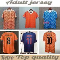 1988 # 12 밴 바스 텐 # 10 Gullit # 17 Rijkaard Mens 축구 유니폼 1998 네덜란드 # 8 Bergkamp 축구 셔츠 1995 1991 Retro