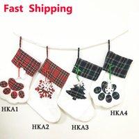 미국 주식 크리스마스 스타킹 고양이 개가 스타킹 솜털 산타 양말 눈송이 크리스마스 트리 장식 축제 선물 가방