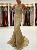 Charming Lace Evening Dress Sexy Spaghetti Straps Mermaid Prom Dresses for Special Occasions Custom Made