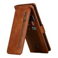 HONNEUR 9X 9 C 9C Étui à rabat pour Huawei Premium Zipper Carte de la carte à glissière Funnora Honor9x x9 Cas de téléphone portable antichoc