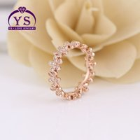 Ring Joseph Lupin's 925 Sterling Silver Ring female rose gold set stone dazzling Daisy ring