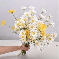 منزل الديكور الاصطناعي ديزي قطعة واحدة 5 رؤساء الهولندية أقحوان كوزموس الزفاف الاصطناعي زهرة باقة الدعائم الزهور HWB6097