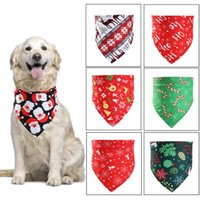 Dog Apparel Pet Accessories 50 X Christmas Style Puppy Cat Triangular Bandana Xmas Towel Scarf Supplies