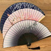 Otras decoración del hogar estilo vintage seda plegable ventilador chino japonés patrón arte arte regalo decoración adornos danza mano