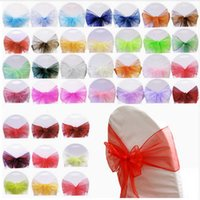 Environmental Protection 18*275cm Color Organza Soft Chair Cover Decoration Beautiful Fashion Bow Wedding Party Decorative Streamers