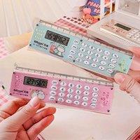 Mini calculadora de la regla portátil de 8 dígitos de la batería de la batería Multifunción de la historieta de la historieta de la historieta de los estudios de papelería
