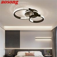 Ceiling Lights AOSONG Nordic Fixtures Contemporary Simple Round Lamp LED Home For Living Room