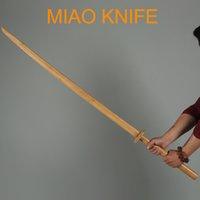 Miao нож Дао деревянный бамбук Katana двуручные боевые искусства меча китайский Kungfu Qi семьи