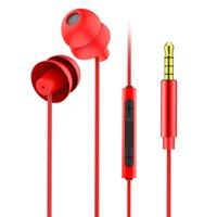 잠자는 이어폰 소프트 실리콘 이어폰 헤드셋 가벼운 이어폰 3.5mm 소음이 이어폰으로 스포츠 이어폰 전화 게임