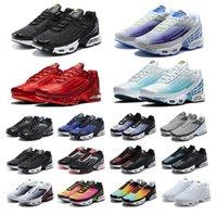 2021 TN Kadın Koşu Ayakkabıları Erkek Eğitmenler Chaussures Üçlü Siyah Lazer Mavi Bred Hiper Menekşe Gümüş Kırmızı Duman Gri Açık Spor Sneakers Boyutu 36-45