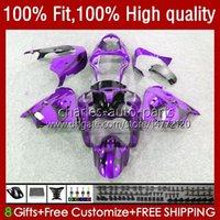 OEM Purple&Flames Bodywork For KAWASAKI NINJA ZX900 900CC ZX-9R Body Kit 25No.93 ZX9 9 R ZX 9R 900 CC 1998-2003 ZX-900 2000 2001 2002 2003 ZX9R 00 01 02 03 Injection Fairing