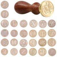 クラフトツールレトロ26文字ワックスDIYシールスタンプアルファベットウッドキット銅ヘッドホビーセットポスト装飾