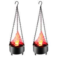 LED Hängende elektrische Simulation Flamme Halloween Dekoration Bonfire Bacher Lampe 3D dynamische Weihnachts-Projektor-Lichter