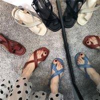 Woman Sandals Women 2021 Fashion Sandalias Buckle Black Basic Flats Shoes Sandale Womens Sandal Plus Size 39