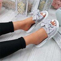 Shujin القوس الشقق الصنادل النساء السيدات أحذية 2020 أشعة جديدة موضة الانزلاق على زقزقة اصبع القدم عارضة الأحذية النسائية الصنادل حجم 35-43 CX200616